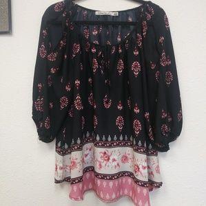 Liberty love cold shoulder size 1X blouse